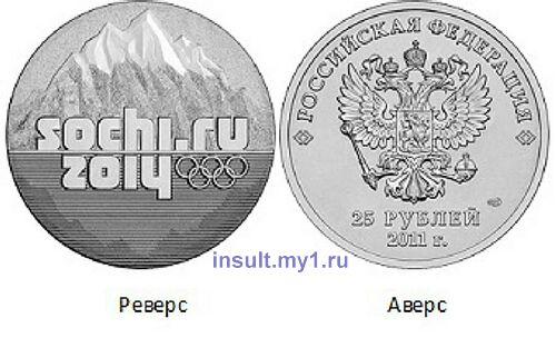 фото - юбилейная монета Сочи 2014 год